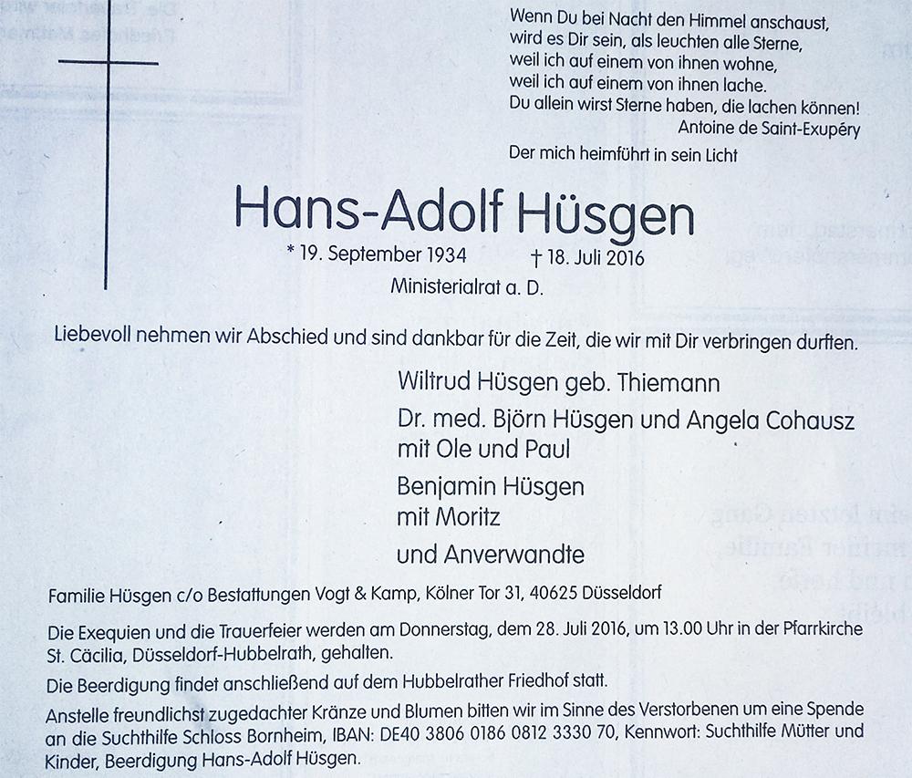 Hans-huesgen-anzeige
